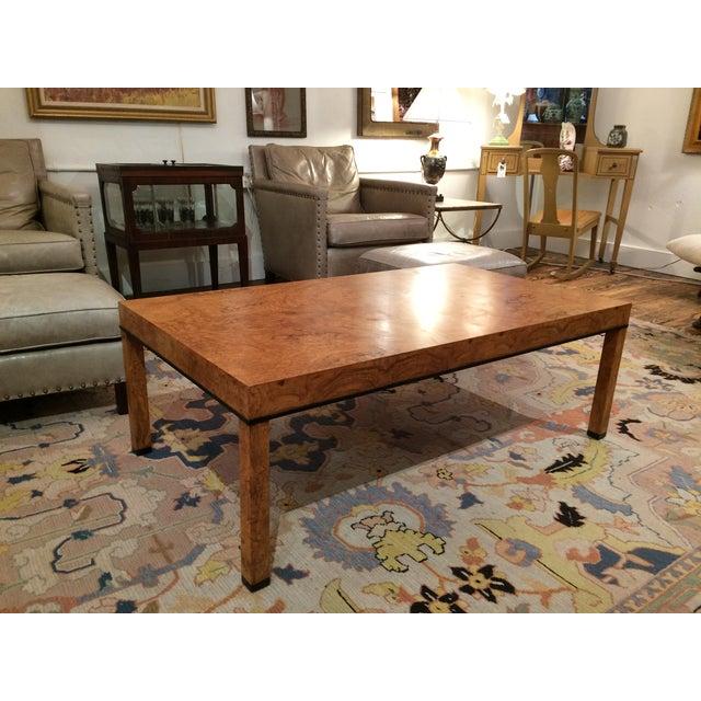 Baker Burlwood Modern Coffee Table - Image 3 of 7