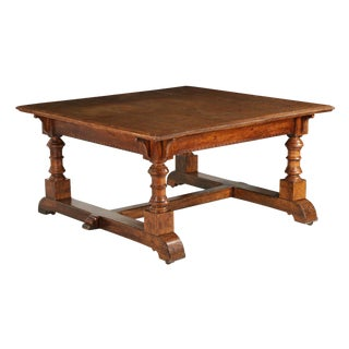 C. 1870 English Arts & Crafts Oak Writing Desk Library Table