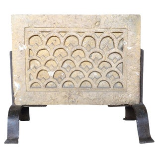 Architectural Carved Stone On Stand