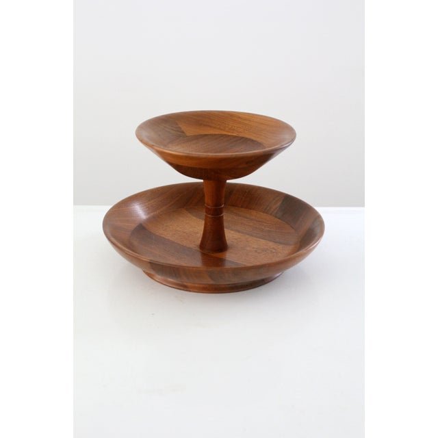 Mid-Century Tiered Walnut Tray - Image 2 of 6