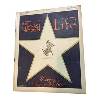 1912 Life Magazine 'Texas Number'