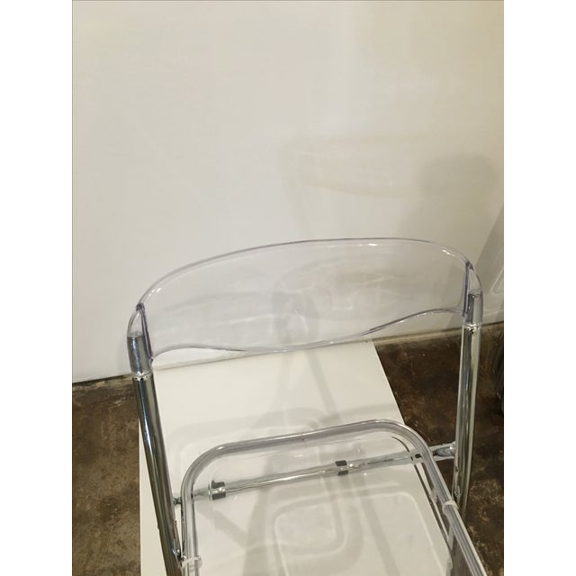 Set of Six Lucite Folding Chairs - Image 4 of 7