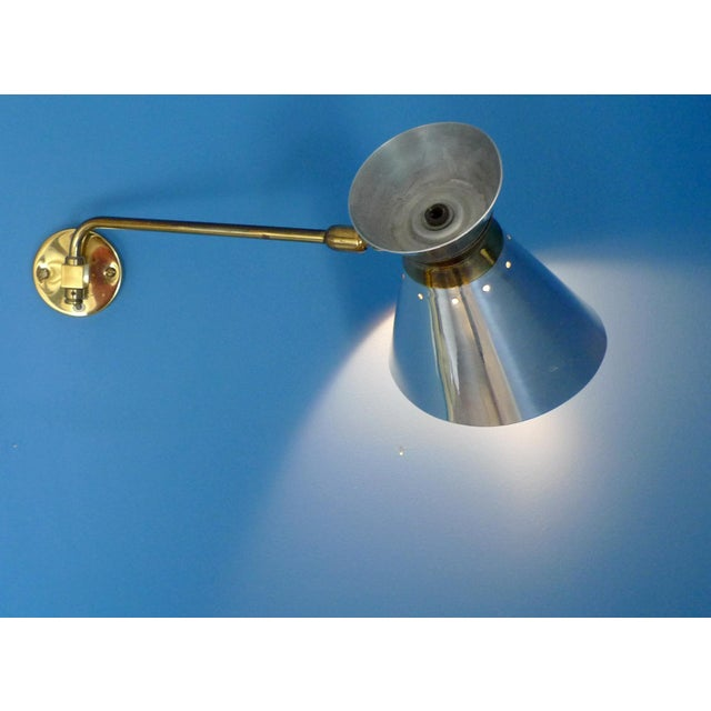 Pierre Guariche Style Adjustable Wall Scones - A Pair - Image 7 of 9