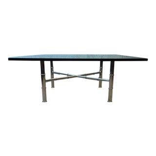 Chrome Faux Bamboo Coffee Table