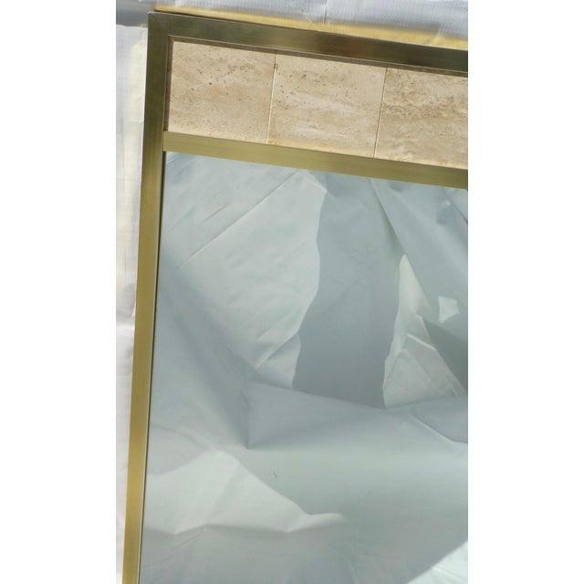Post Modernist 1980's Travertine Mirror - Image 4 of 11