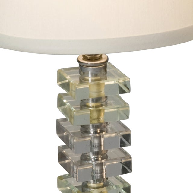 1930s French Stacked Glass Boudoir Table Lamps - 2 - Image 5 of 5