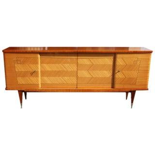 French Art Deco Flame Mahogany Sideboard