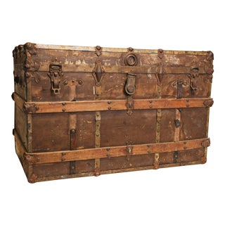 Victorian Wooden Steamer Trunk