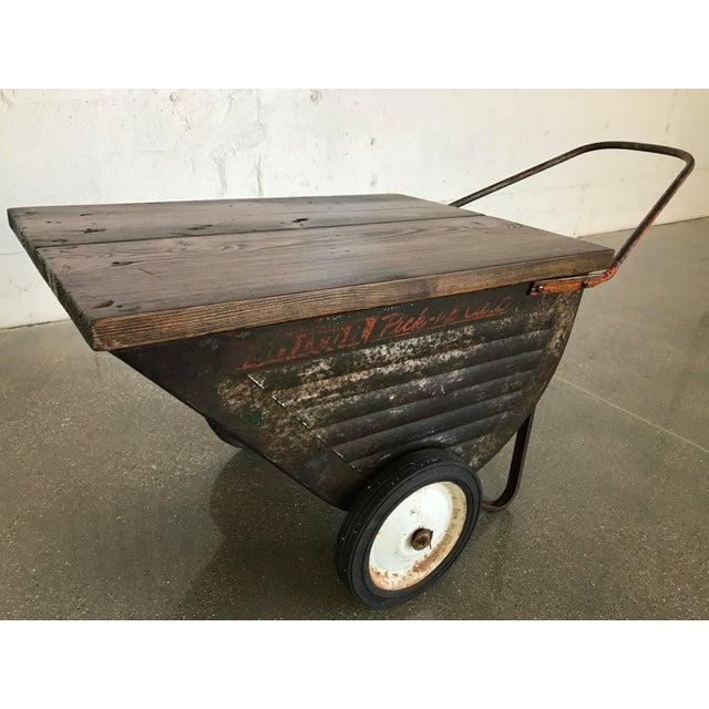 Vintage Industrial Cart Table or Beverage Cart - Image 4 of 10
