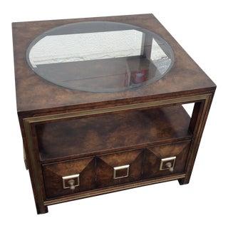 Master Craft Mid Century Modern Maid Burl Coffee Table