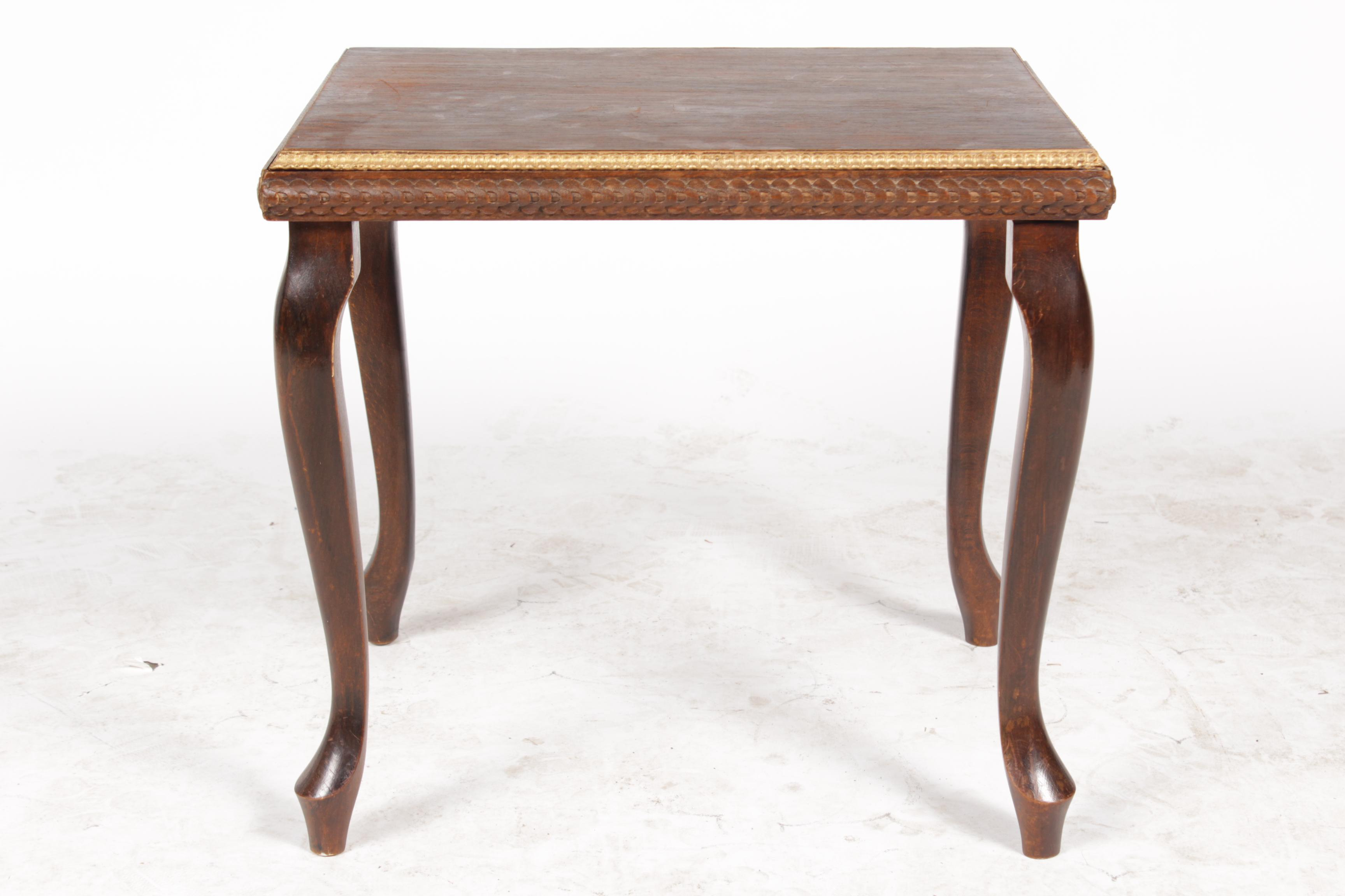 Amazing Queen Anne 1920s Gilt End Table   Image 2 Of 7