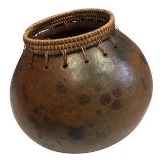 Vintage Native American Gourd Vessel