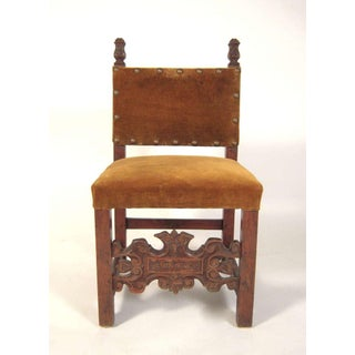 Small Spanish or Italian Baroque Style Side Chair