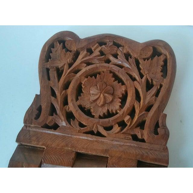 Vintage Carved Wood Book Stand - Image 6 of 7