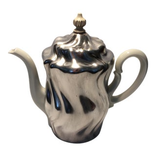 1940s Krautheim Porcelain Tea Pot & Silverplated Tea Cozy