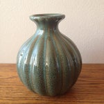 Image of Blue Green Pottery Vase