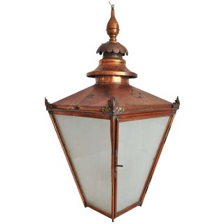 Grand Late 19th C. English Copper Hanging Lantern