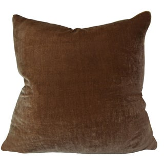 Kravet Silk Velvet Chocolate Pillow