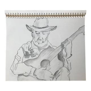 The Guitarist 1 - Drawing