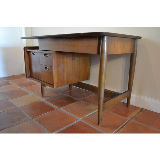 Hooker Mid-Century Walnut Small Floating Desk - Image 8 of 8