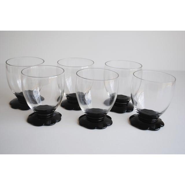 Image of Black Scalloped Cocktail Glasses, Set of 6