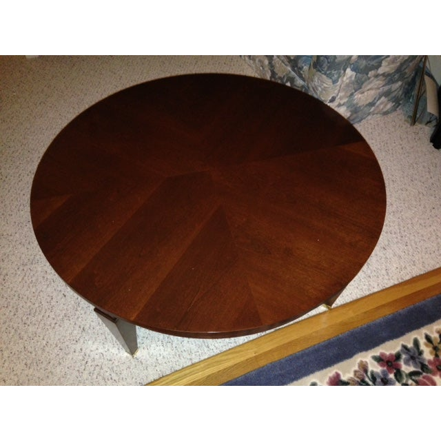Ethan Allen 40 Round Coffee Table Medallion Chairish