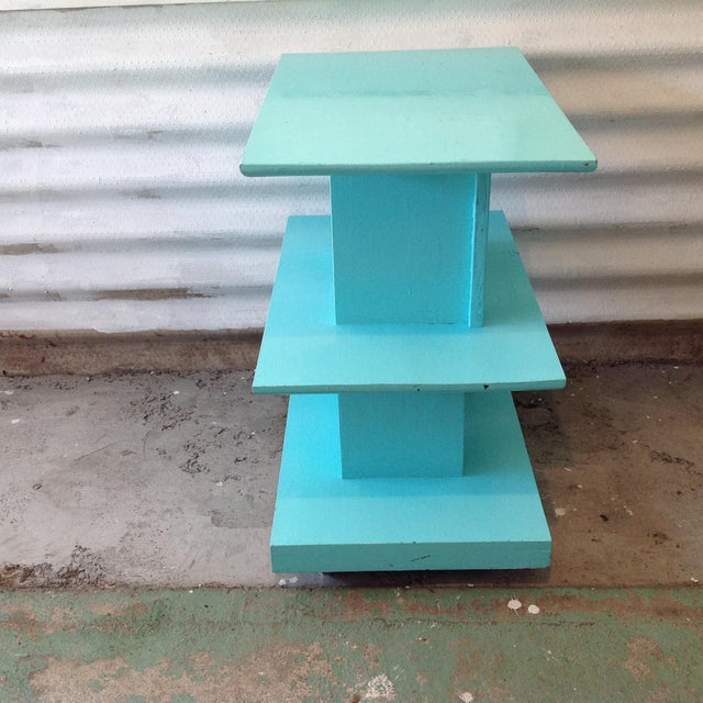 Mid-Century High Gloss Chalk Painted Cart - Image 3 of 11