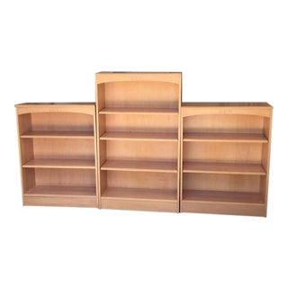 Ethan Allen American Maple Bookcases - Set of 3