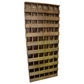 Primitive Hand Built Cubby Shelving Unit