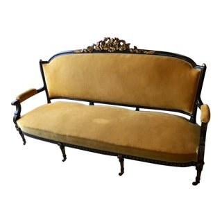 1860s Antique French Louis XV Style Settee Sofa