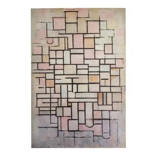 "1970 Abstract Lithograph Print - Piet Mondrian ""Composition No. 6 """