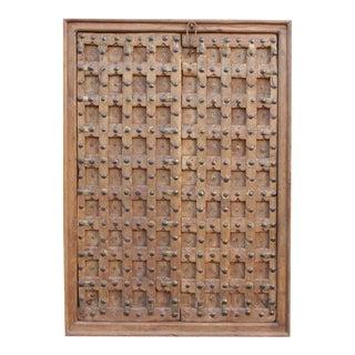 Antique Moorish Star Carved Door