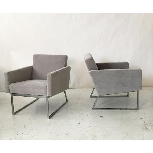 Milo Baughman Lounge Chairs- A Pair - Image 2 of 9