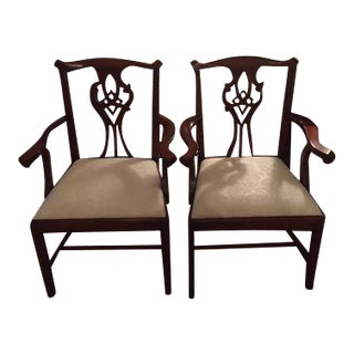 Chippendale Arm Chairs - A Pair