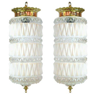 Pair of Art Deco-Style Pendant Lights
