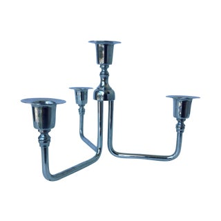 Mid-Century Chrome Plated Candelabrum