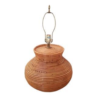 Boho Chic Woven Bamboo Lamp