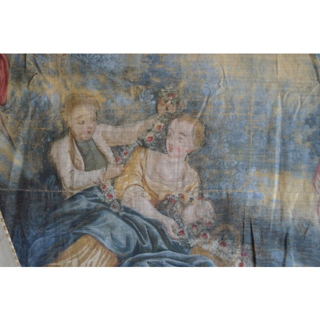 Large Rococo Wall Hanging Tapestry 19th Century - Image 8 of 10