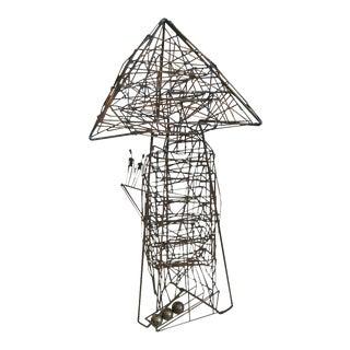 Guy Pullen Original Kinetic Wire Sculpture
