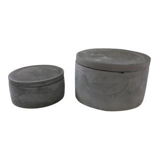 A Set of Decorative Cement Boxes