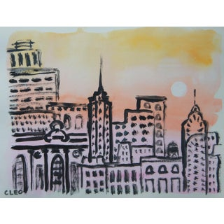 New York Cityscape Skyline by Cleo