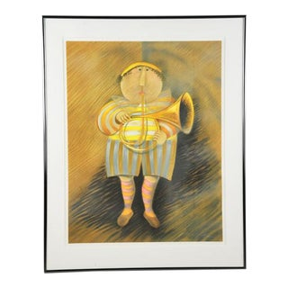 """Signed & Numbered Lithograph """"French Horn Player"""" by Graciela Rodo Boulanger"""