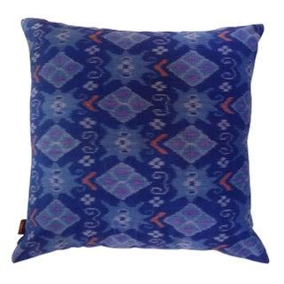 Blue Balinese Ikat Pillows - a Pair
