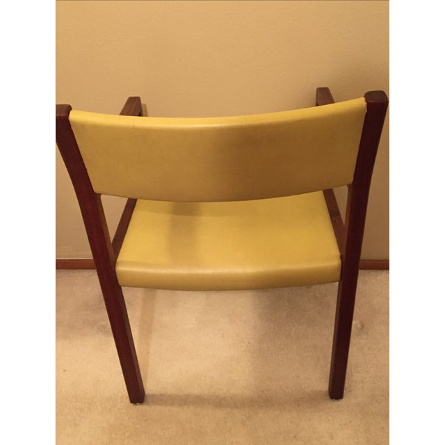 Image of Mid-Century Danish Modern Vinyl And Walnut Chair