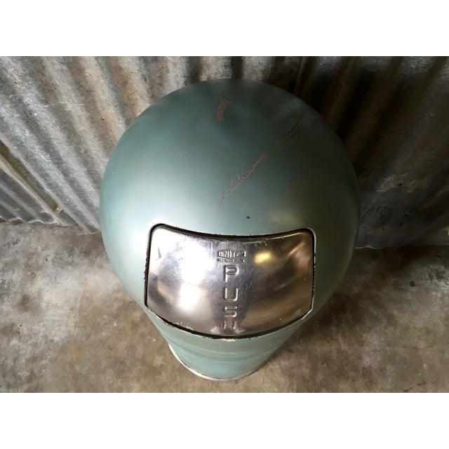 Vintage United Metal Trash Can - Image 5 of 11