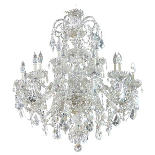 Waterford Quality Fine Cut Crystal Chandelier
