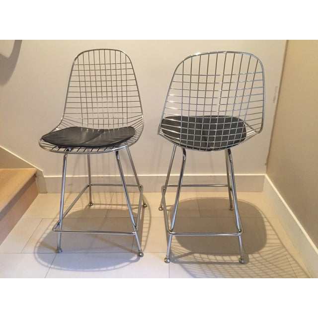 Modernica Counter Height Wire Stools - A Pair - Image 3 of 7