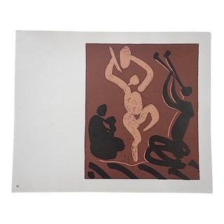 """Vintage Picasso Lithograph-""""Mere, Danseur Et Musicien"""""""