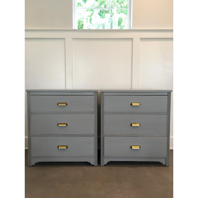 Gray Nightstands - A Pair - Image 2 of 5