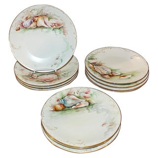 Limoges France Ocean Plates - Set of 11